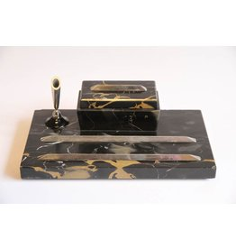 Art deco marble desk set