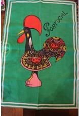Teatowel - Portugal, green, rooster