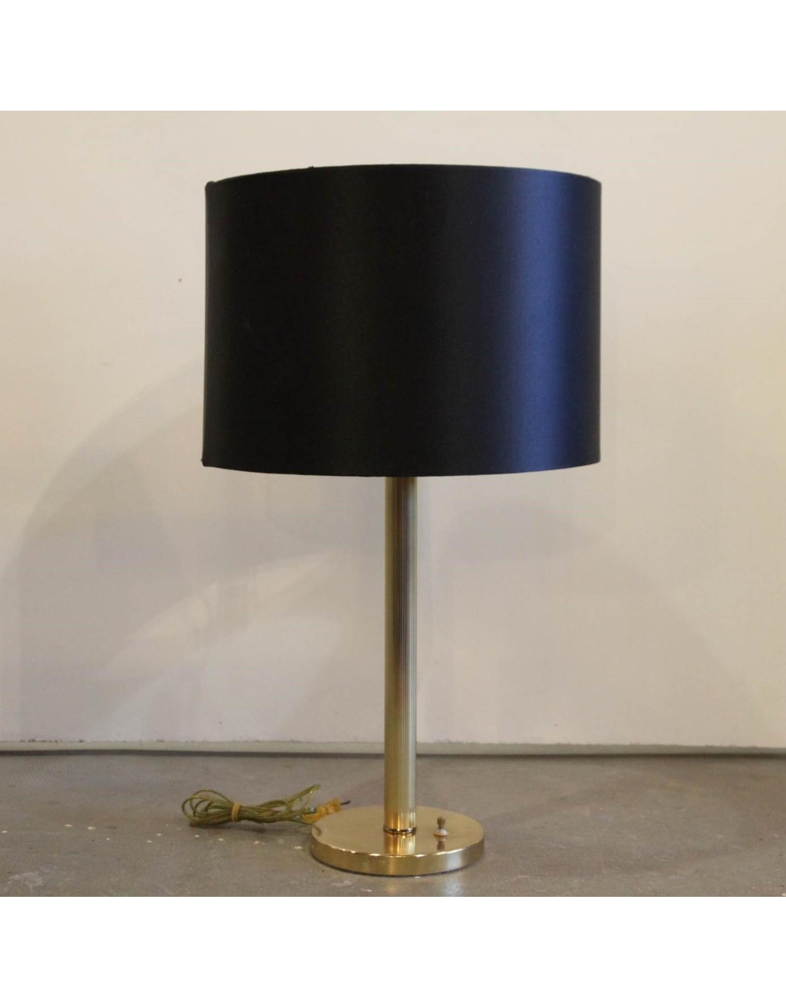 Lamp - table lamp, gold base, black shade