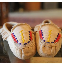 Small pair of beaded moccasins