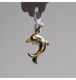 Gold dolphin pendant