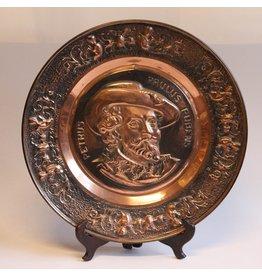 Vintage embossed copper-look plate