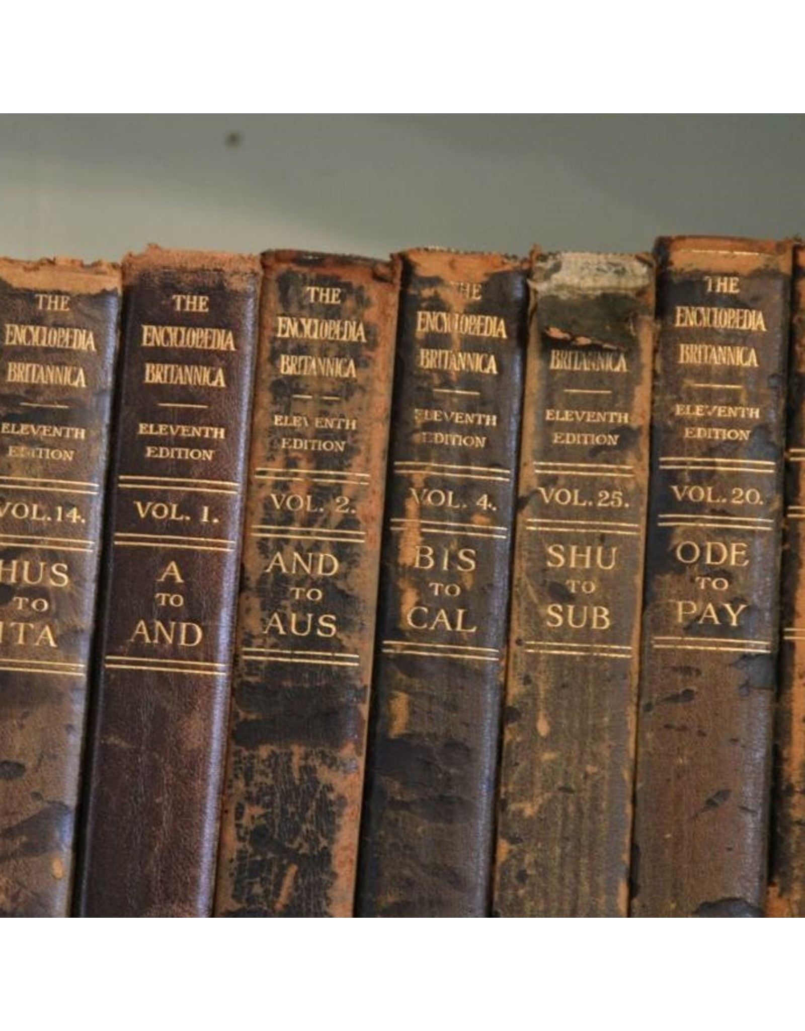 Books - 18 volumes of Encyclopedia Britannica 1911, 11th edition
