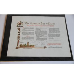Signed Canadian Bill of Rights