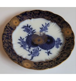 Antique blue & gold plate