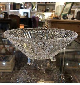 Pressed glass three footed dish
