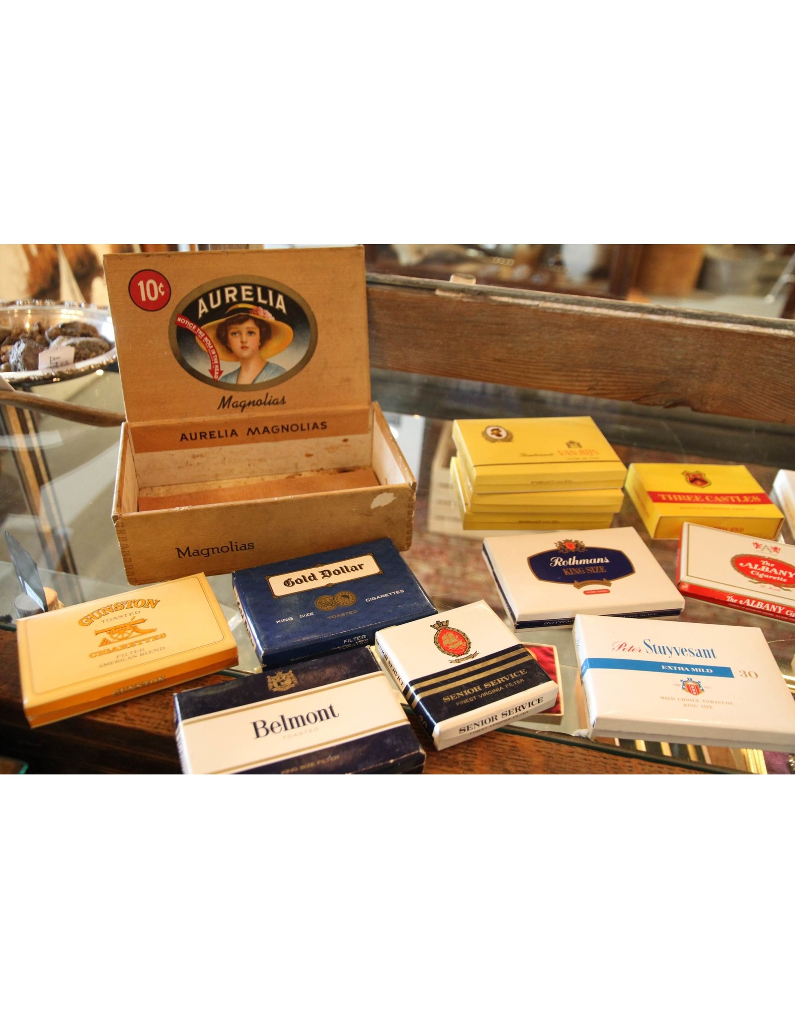 Collection of cigarette packages