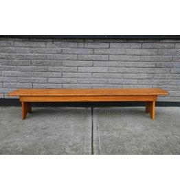 Long pine bench