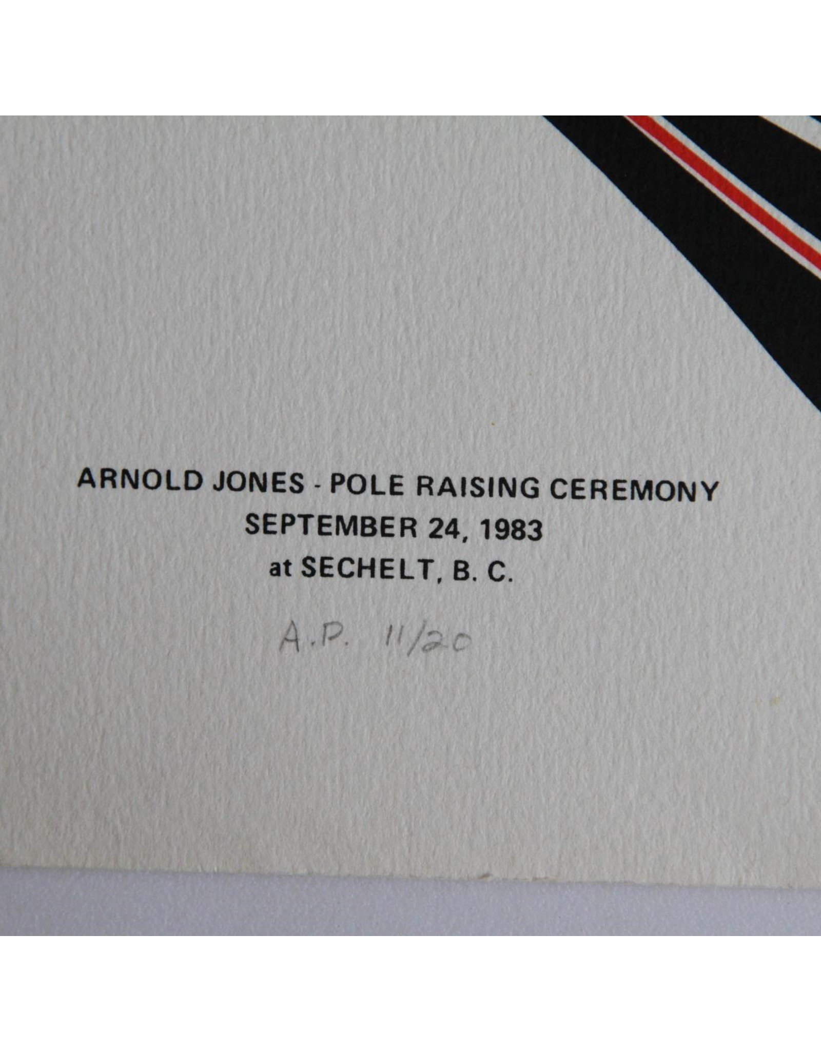 Art print - Arnold Jones JBH Pole Raising Sechelt