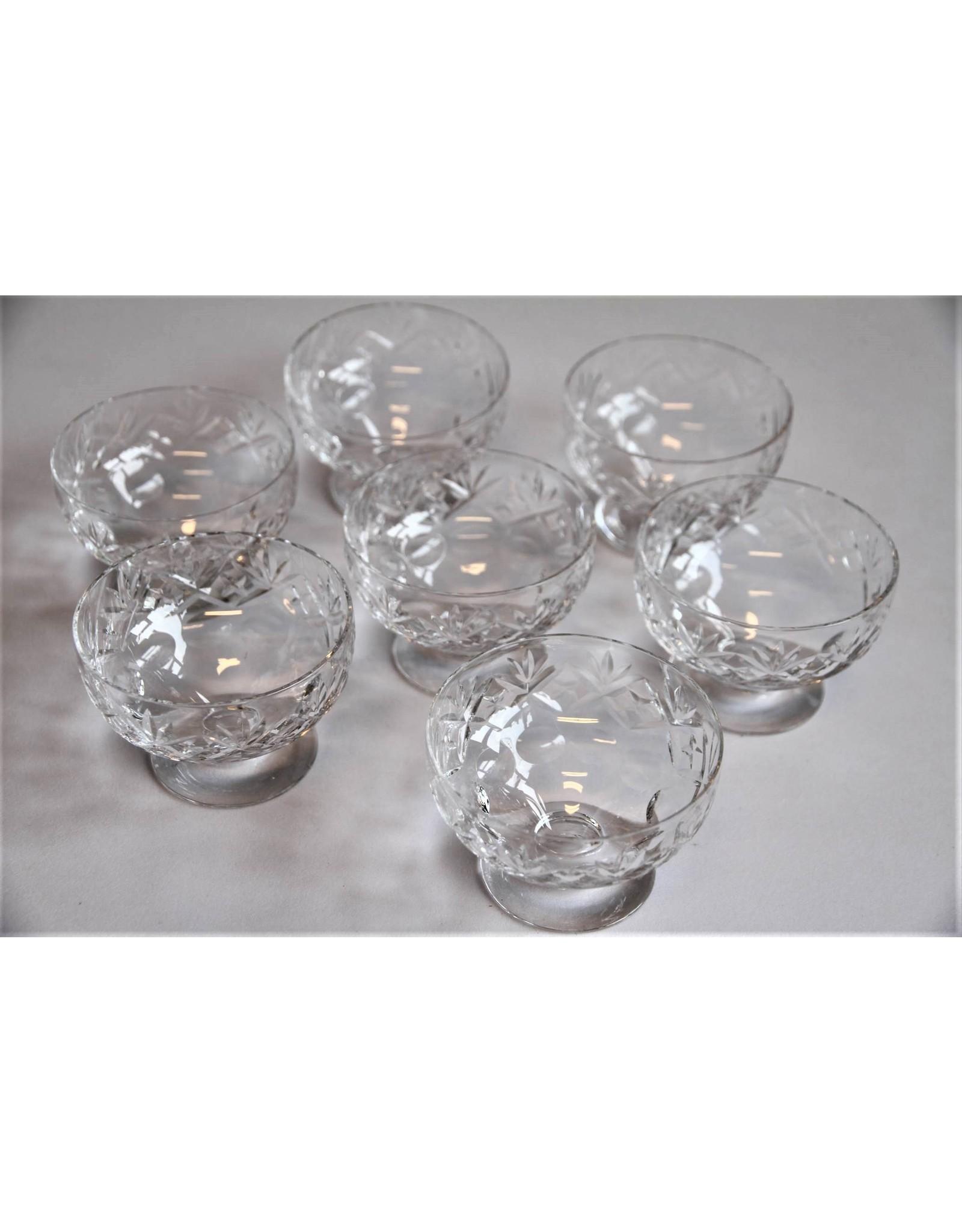 Bowls - seven crystal dessert bowls