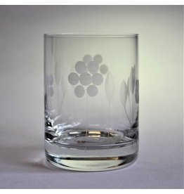Four small drinking glasses