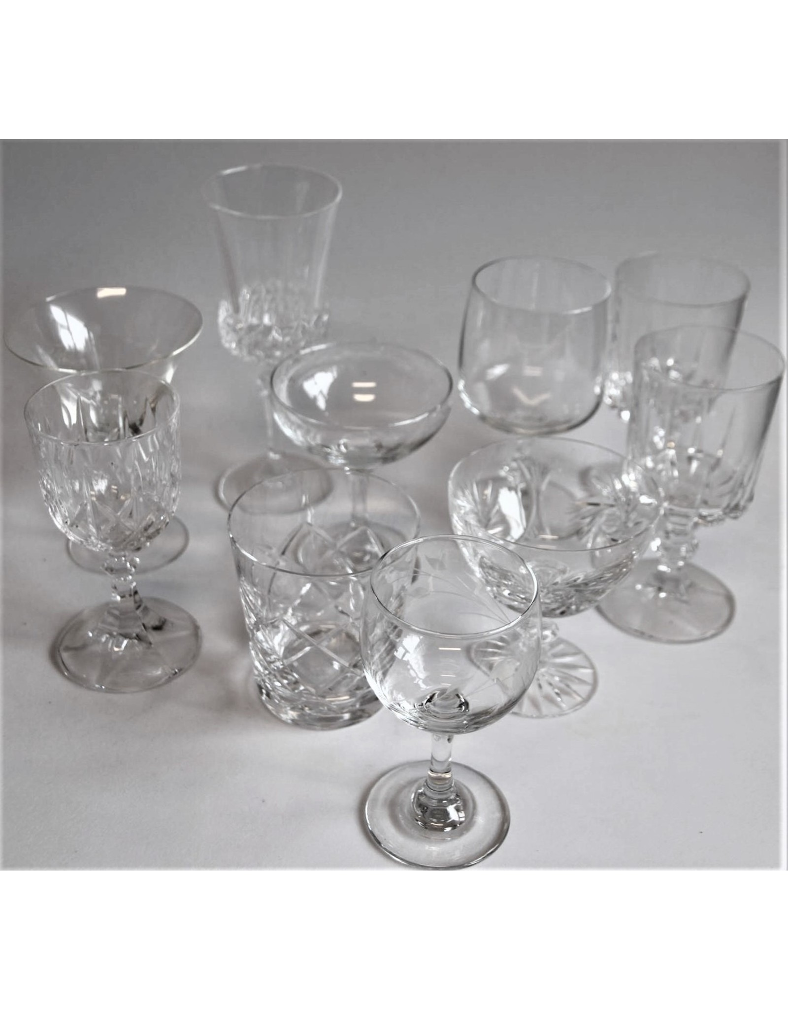 Glassware - ten assorted glasses