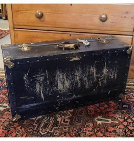 Battered travel trunk