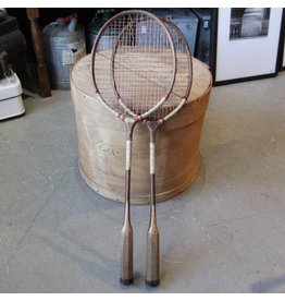 Pair of old badminton racquets