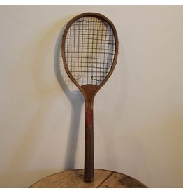 Single old sports racquet