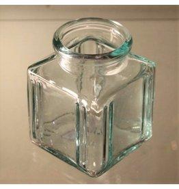 Green glass ink bottle