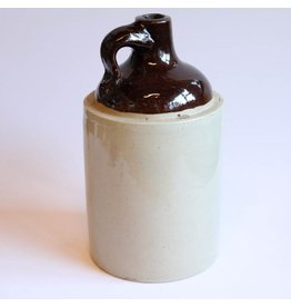 Stoneware whisky shoulder jug