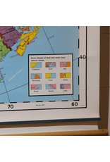 Map - schoolroom pull down world Canada map