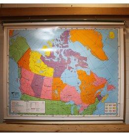 Pull-down schoolroom map