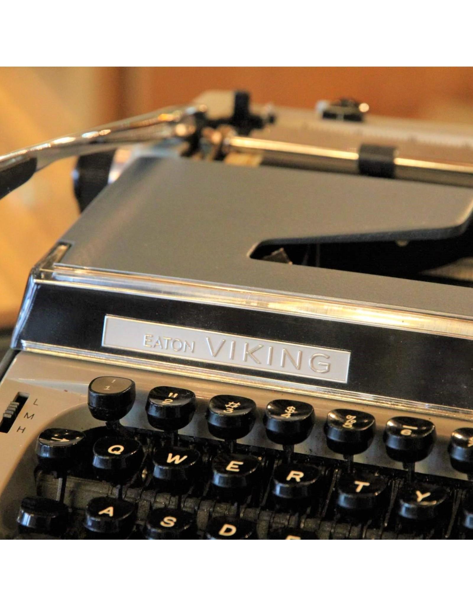 Typewriter - Eaton Viking Deluxe 10 blue working