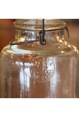 Canning jar - mason jar, 1943, wire bail, clear glass