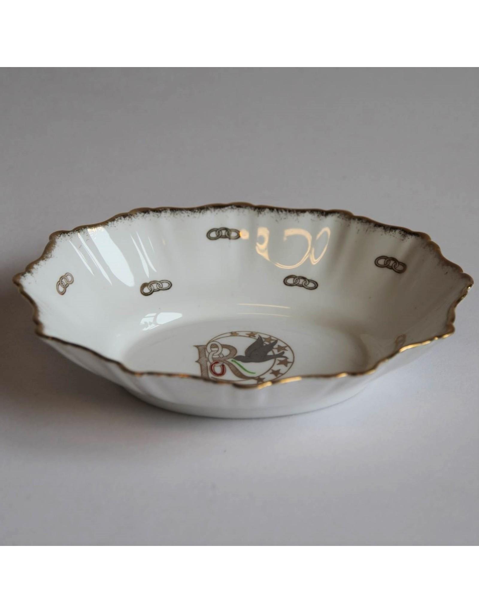 Bon bon dish - Daughters of Rebekah, International Order of Odd Fellows, Royal Stafford bone china