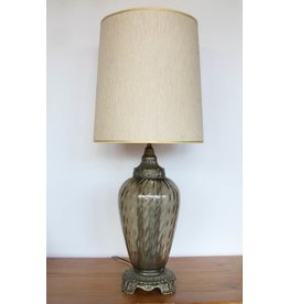Vintage table lamp with glass base