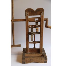 Antique wooden wool winder