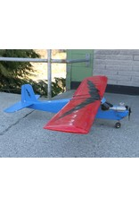 Plane - radio controlled, no controller, red and blue