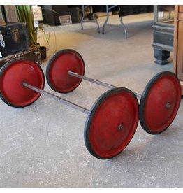 Pair of vintage derby wheels