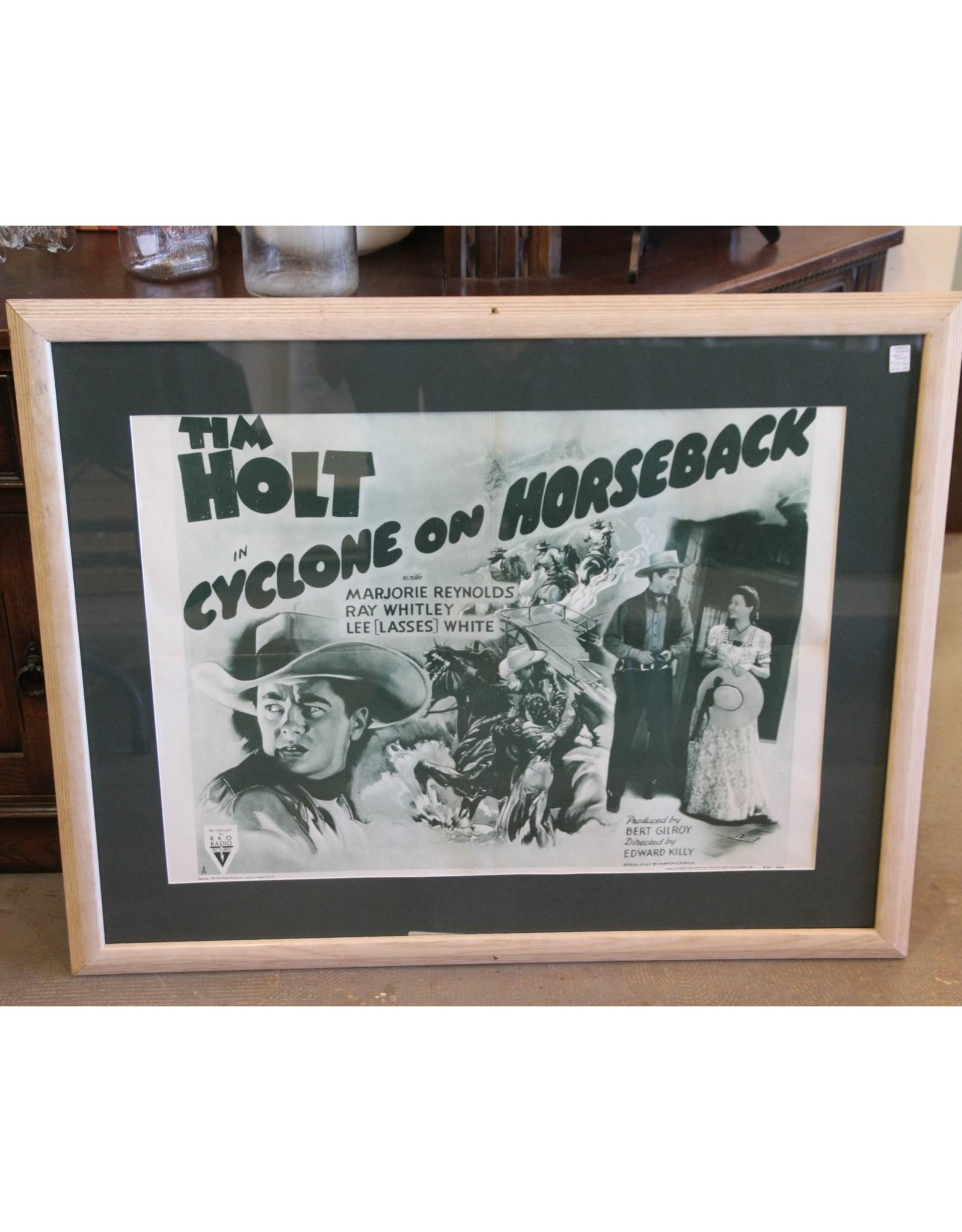 "Movie poster - Vintage, ""Cyclone on Horseback"""