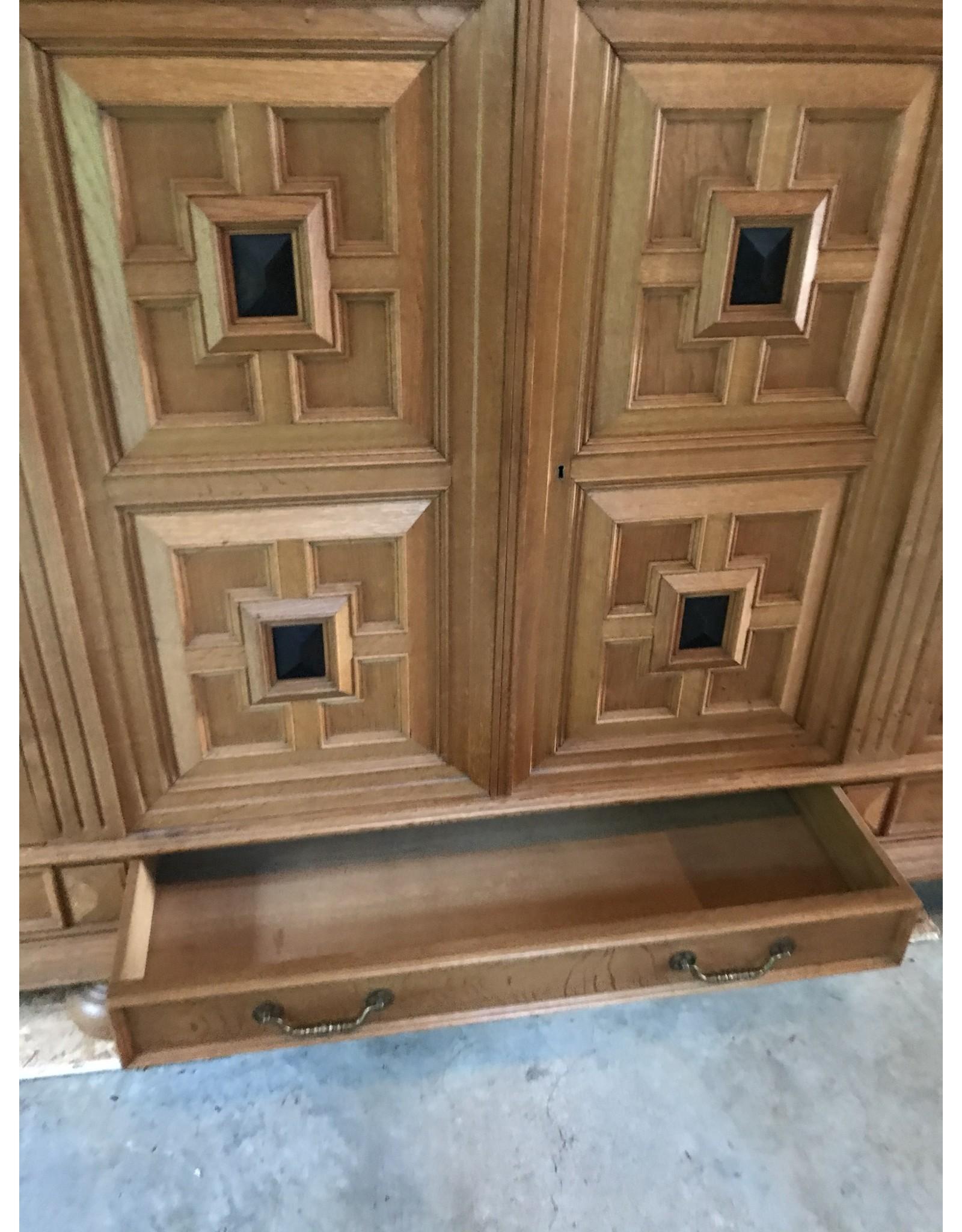 Sideboard - large, four doors, drawers, bun feet