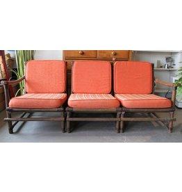 Bamboo upholstered settee