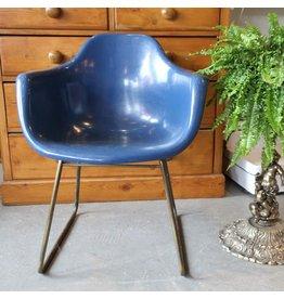 Vintage blue fiberglass tub chair
