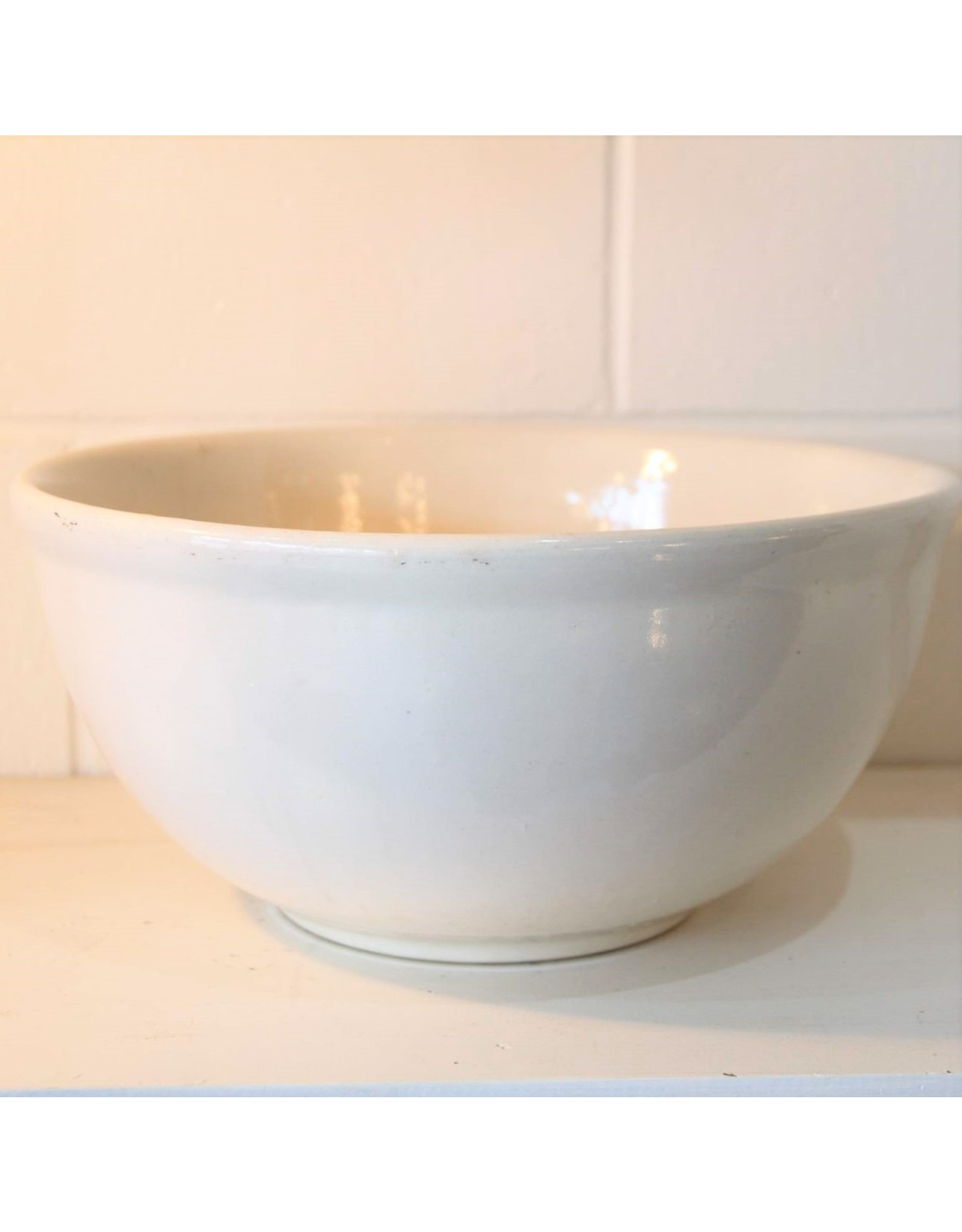 Mixing bowl - ironstone, impressed 10 on base