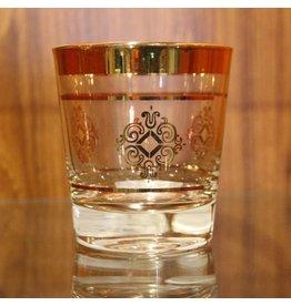 Vintage gold rimmed scotch tumbler