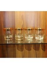 Tumbler - vintage scotch gold rimmed heavy base