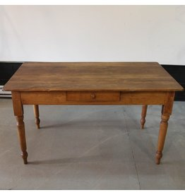 Wooden harvest table