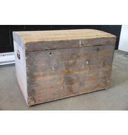 Rustic wooden trunk