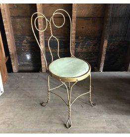 Vintage metal vanity chair