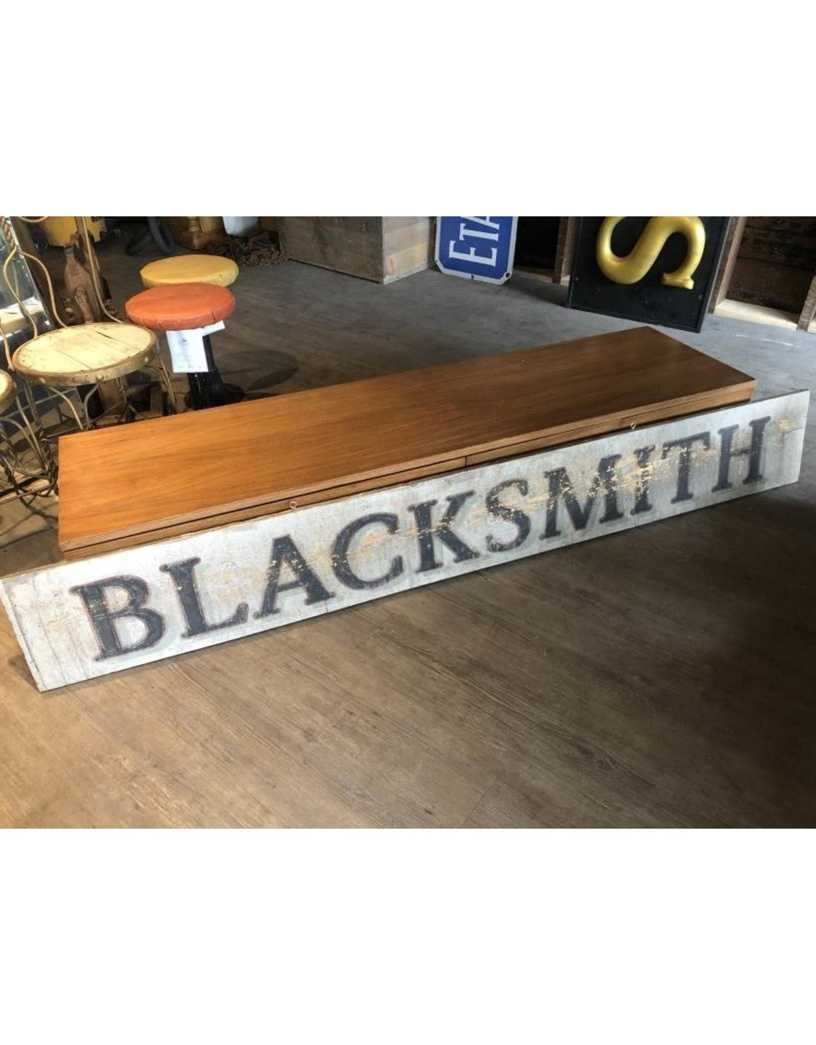 Blacksmith sign - vintage, double sided, wood