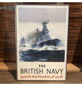 Framed British Navy art print