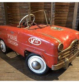 Vintage steel pedal car