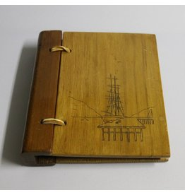 Address book with wooden cover