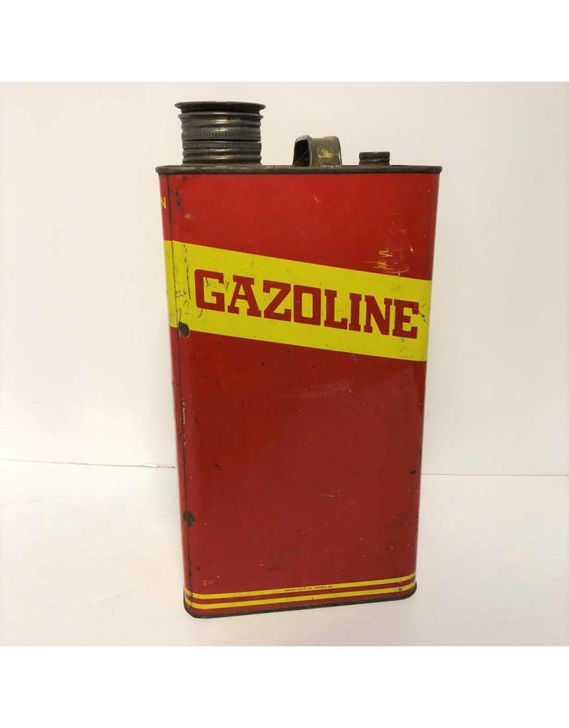 Gasoline can with French and English
