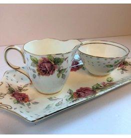 Paragon Golden Emblem cream and sugar on tray