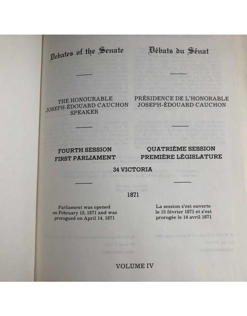 Book - Reconstituted Debates of the Canadian Senate, 1867-1871, seven volumes, hardcovers