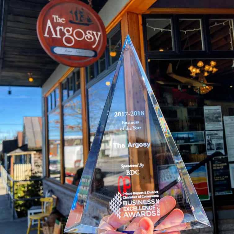 The Argosy wins Business of the Year!