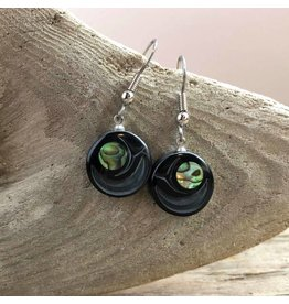 Carved argillite earrings from Haida Gwaii