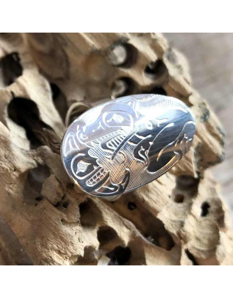 Ring - Silver, Wolf and moon, Matthew McKay